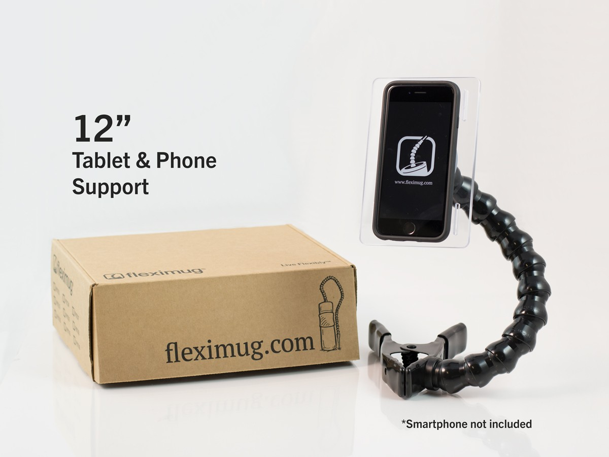 "Clamp-on Tablet & Phone Support - 12"" Arm"